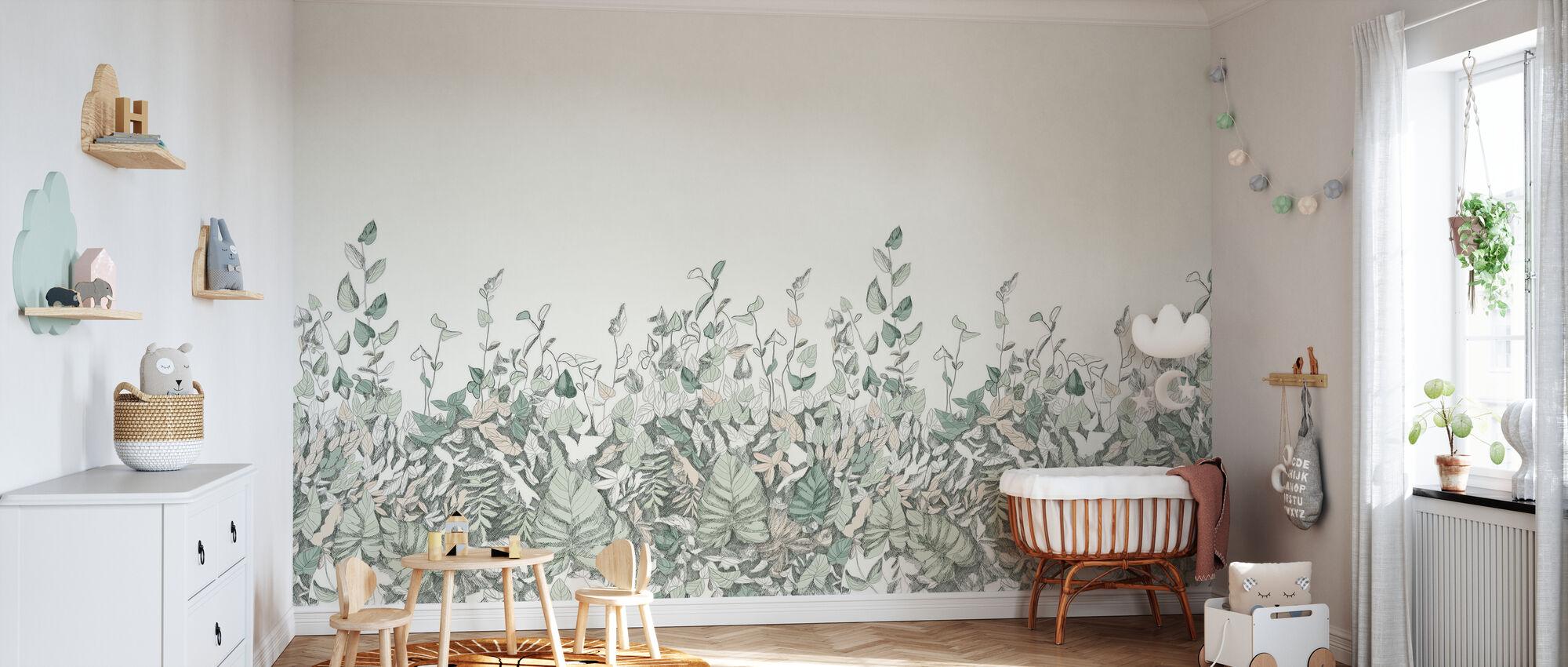 Secret Garden - Groen - Behang - Babykamer