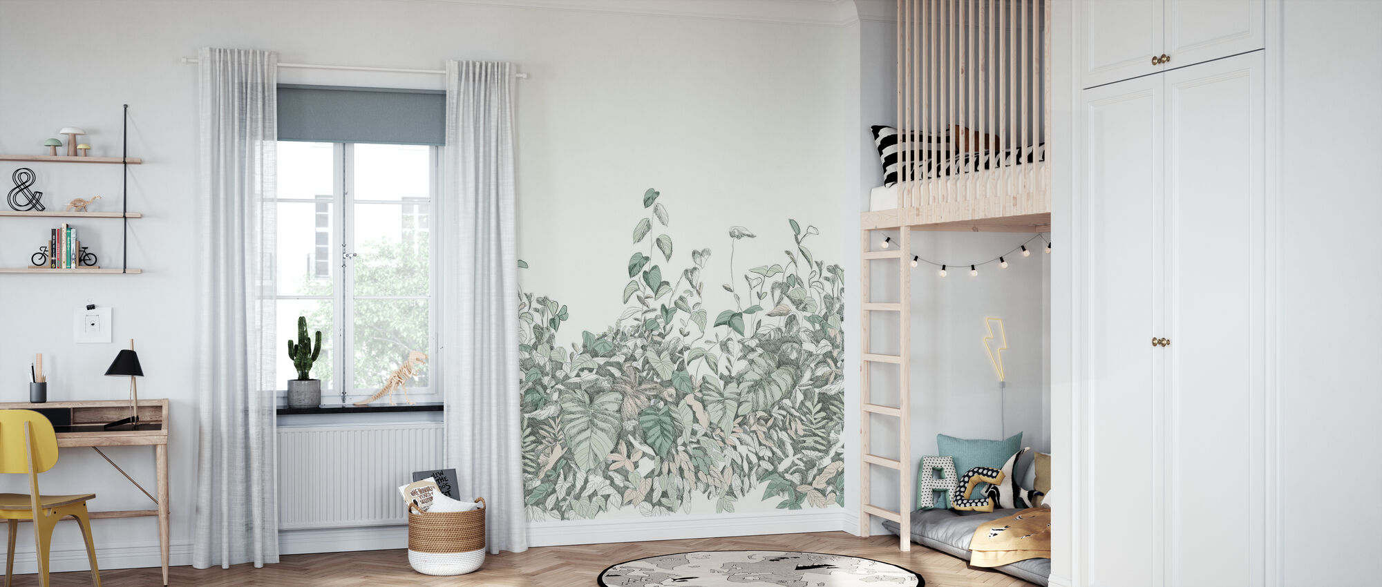 Secret Garden - Green - Wallpaper - Kids Room