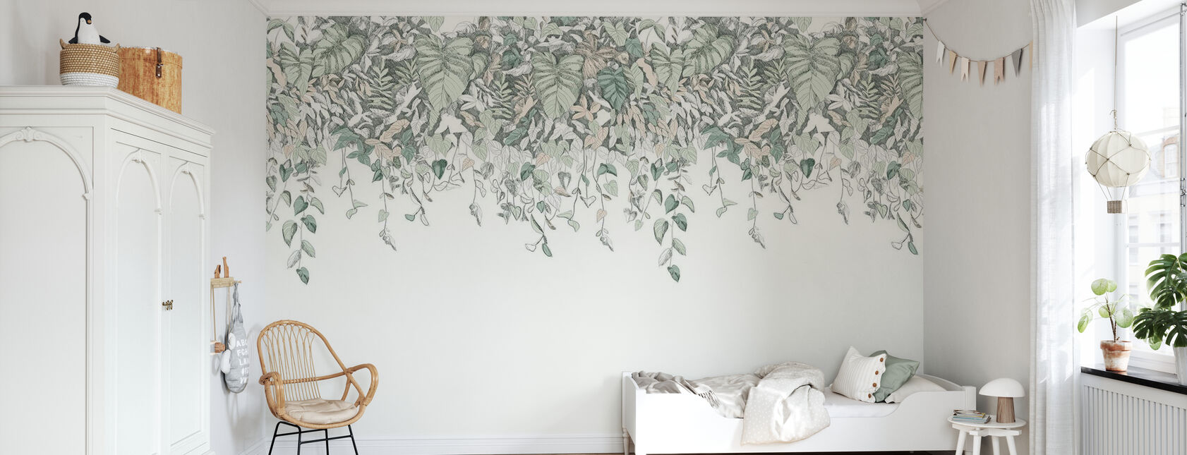 Secret Garden Upside Down - Green - Wallpaper - Kids Room