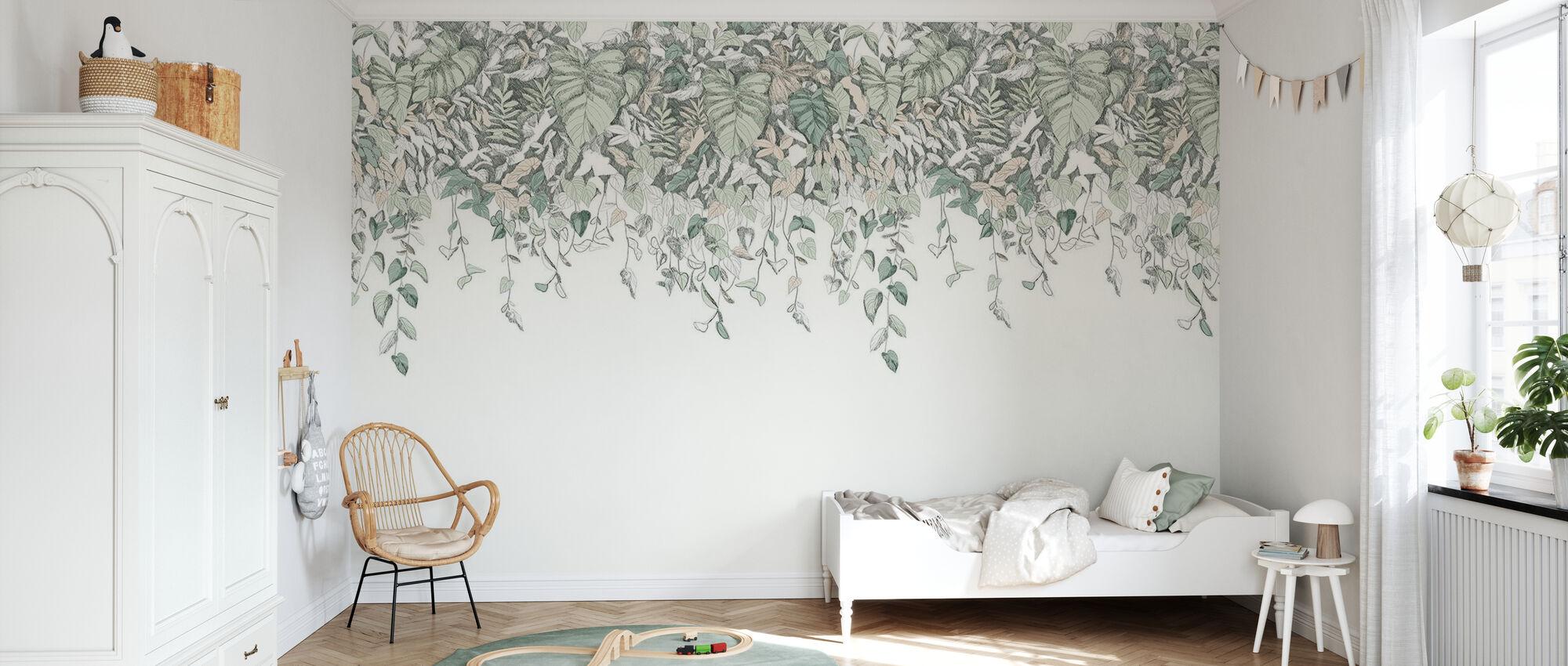 Secret Garden Upside Down - Green - Wallpaper - Kids Room