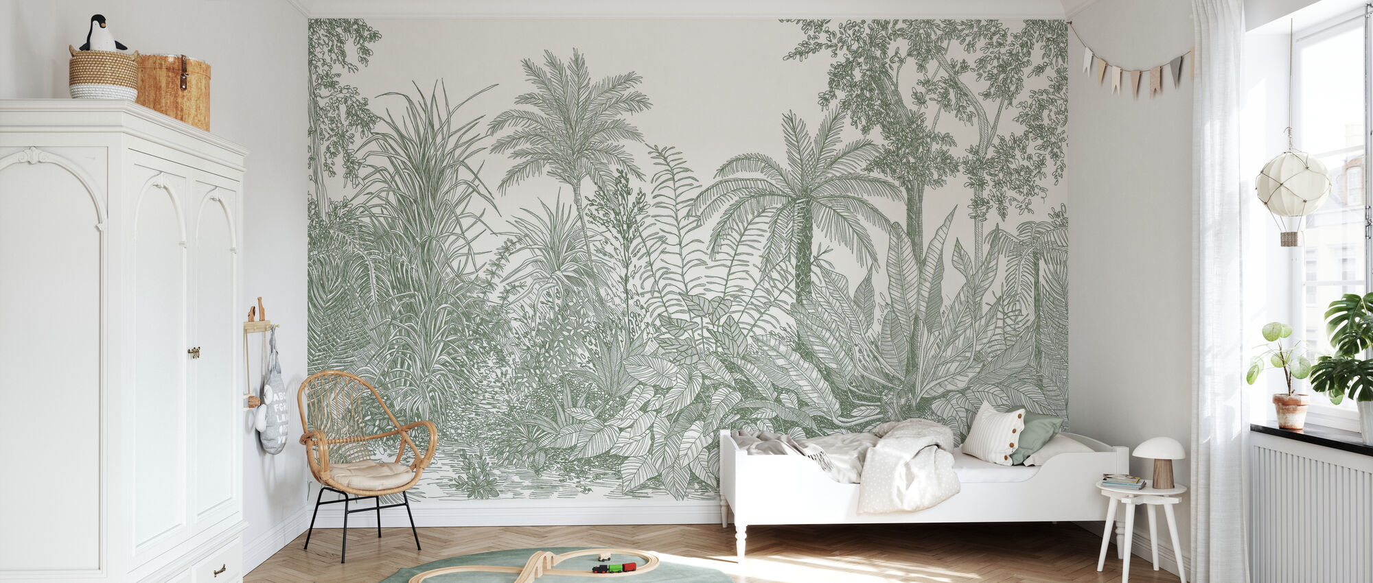 Tropica - Sage - Wallpaper - Kids Room