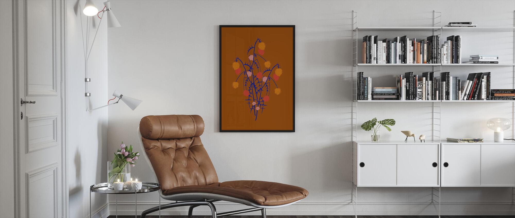 Thistle Boquet - Framed print - Living Room