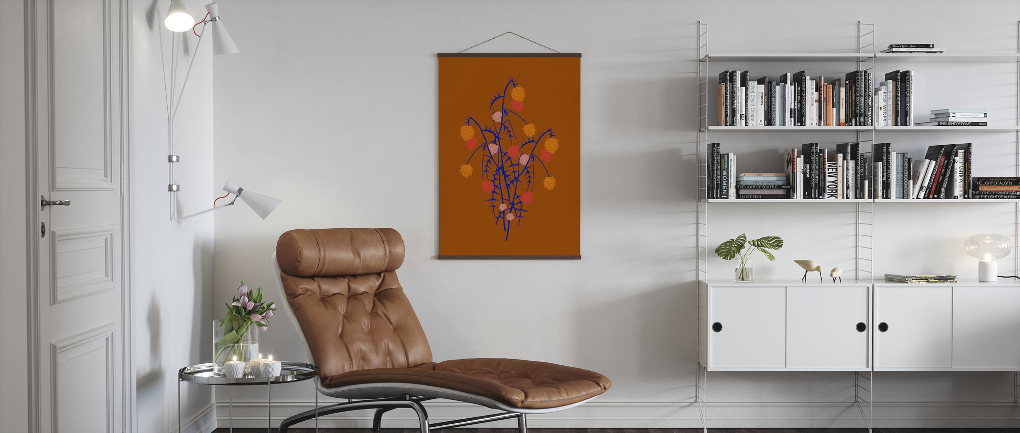 Thistle Boquet - Poster - Living Room