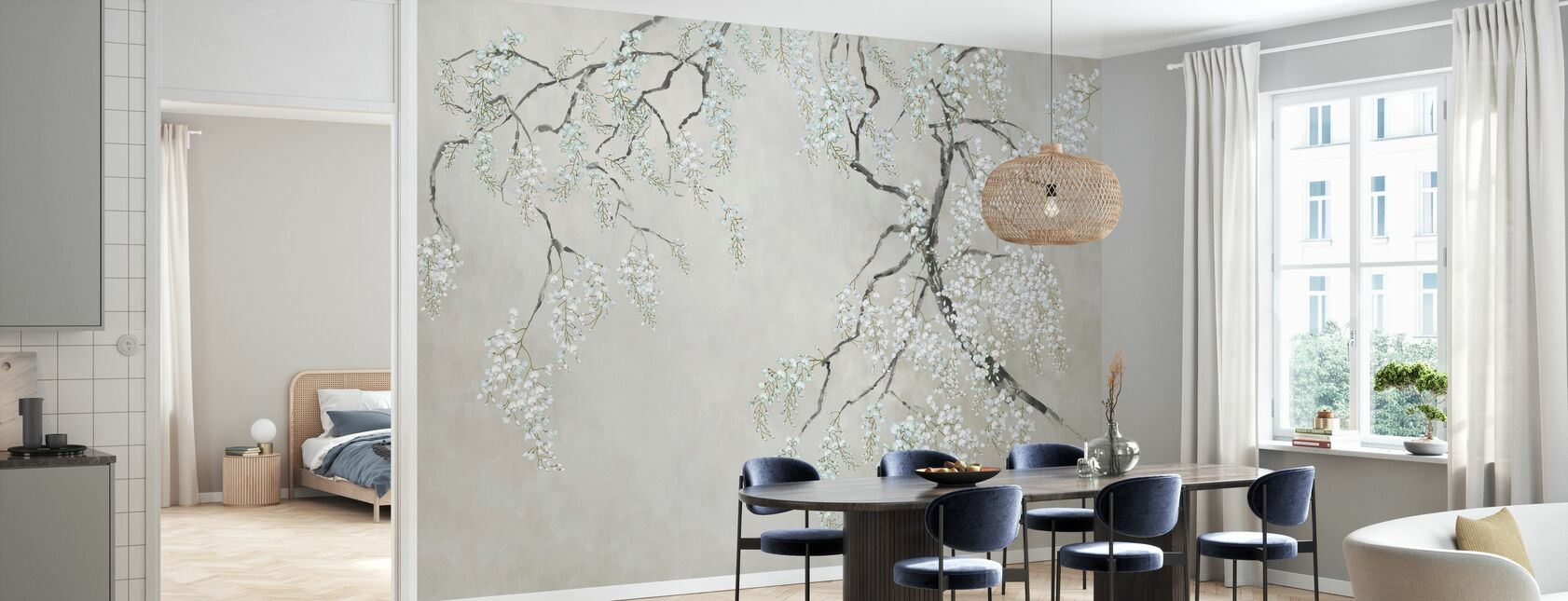Blossom Wisteria - Wallpaper - Kitchen