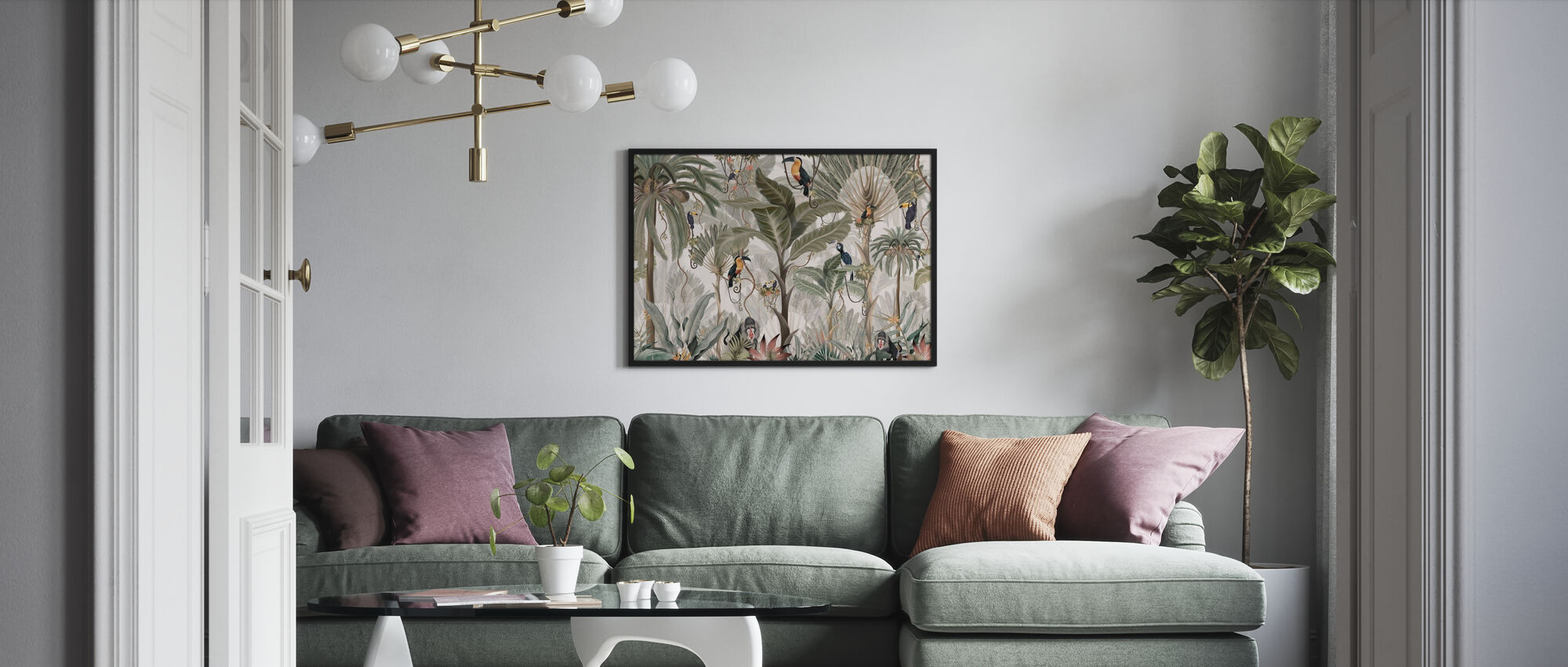 Exotic Jungle - Bright - Poster - Living Room