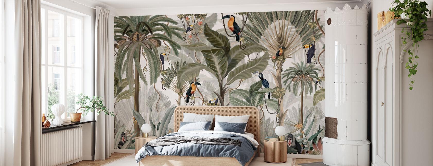 Exotic Jungle - Bright - Wallpaper - Bedroom