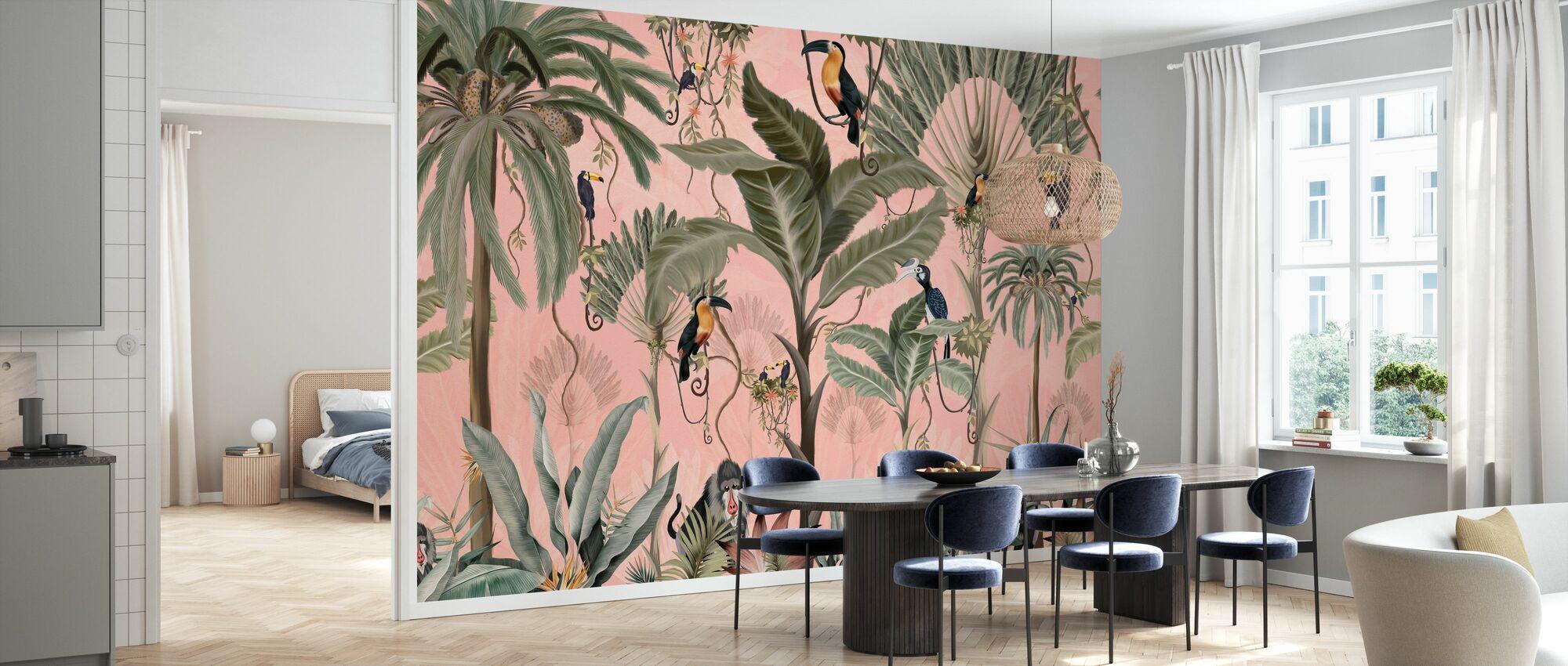 Exotic Jungle - Pink - Wallpaper - Kitchen