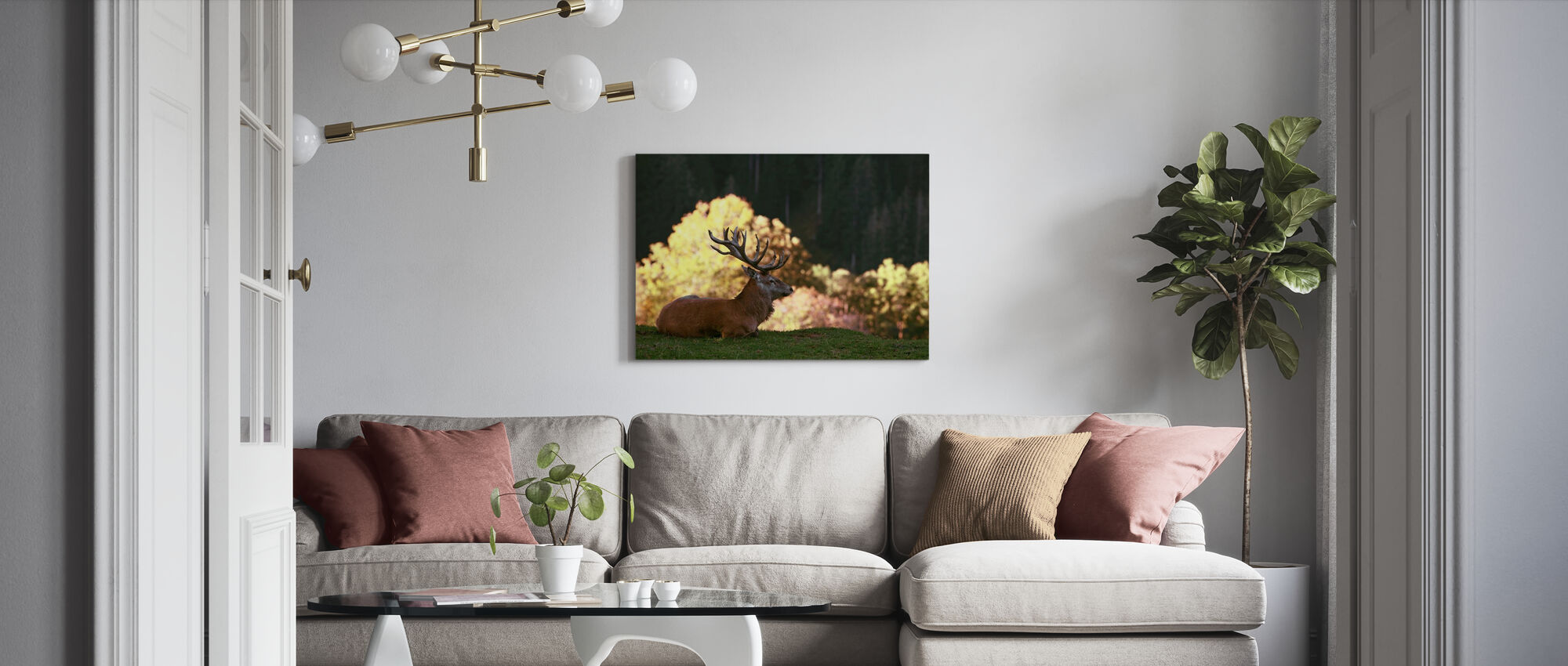 Fight Break - Canvas print - Living Room