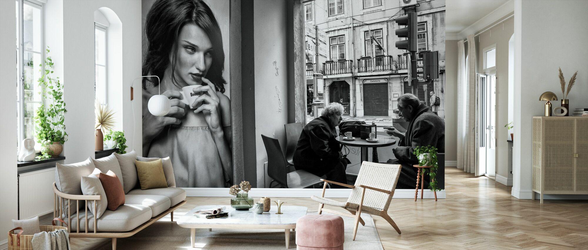 Koffie gesprekken - Behang - Woonkamer