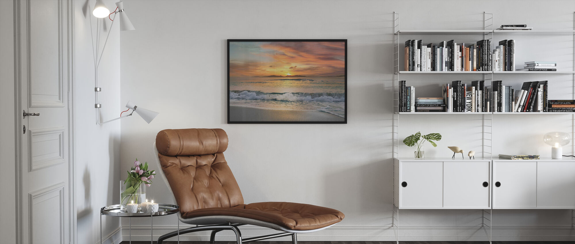 Sunset Strand - Poster - Woonkamer