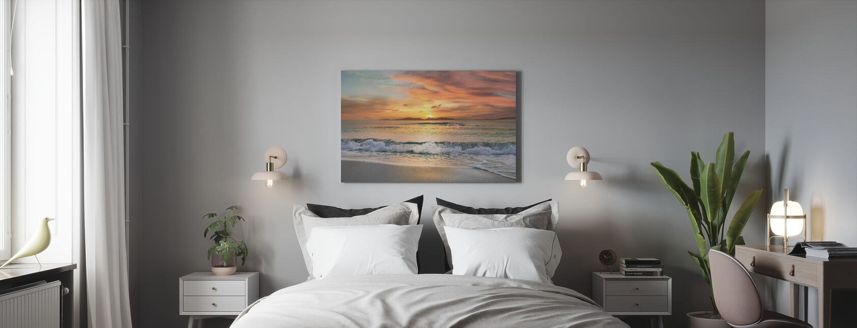Sunset Beach - Canvas print - Bedroom