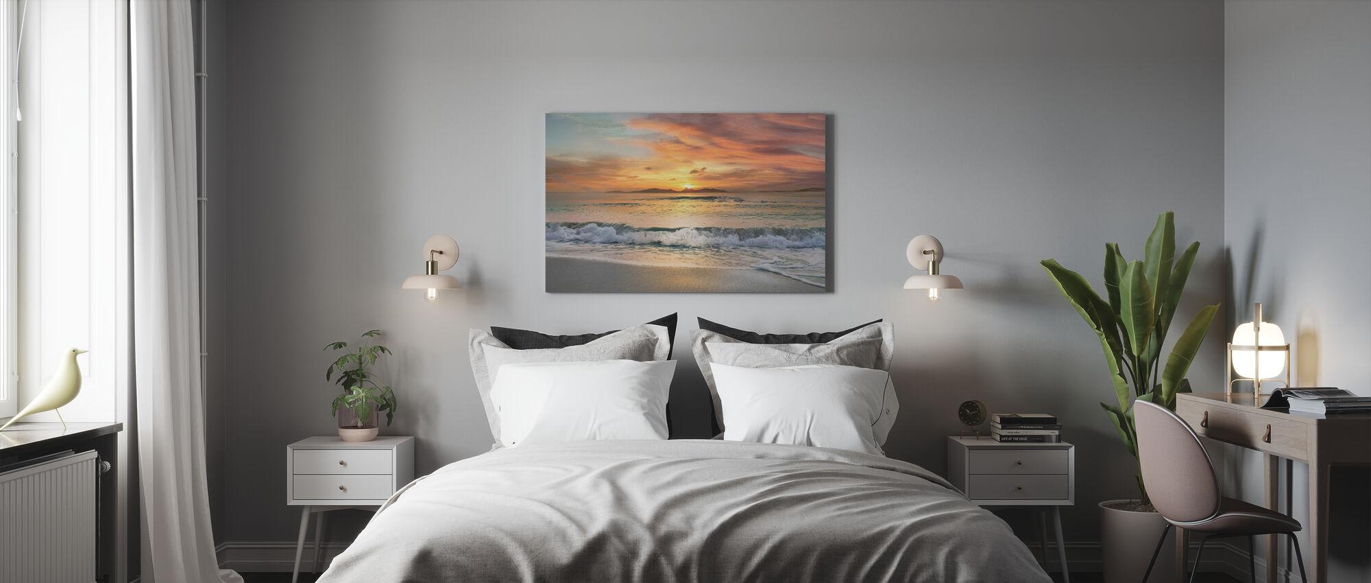 Sunset Strand - Canvas print - Slaapkamer