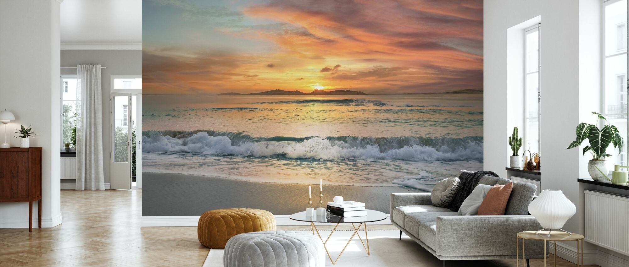 Sunset Strand - Tapet - Stue