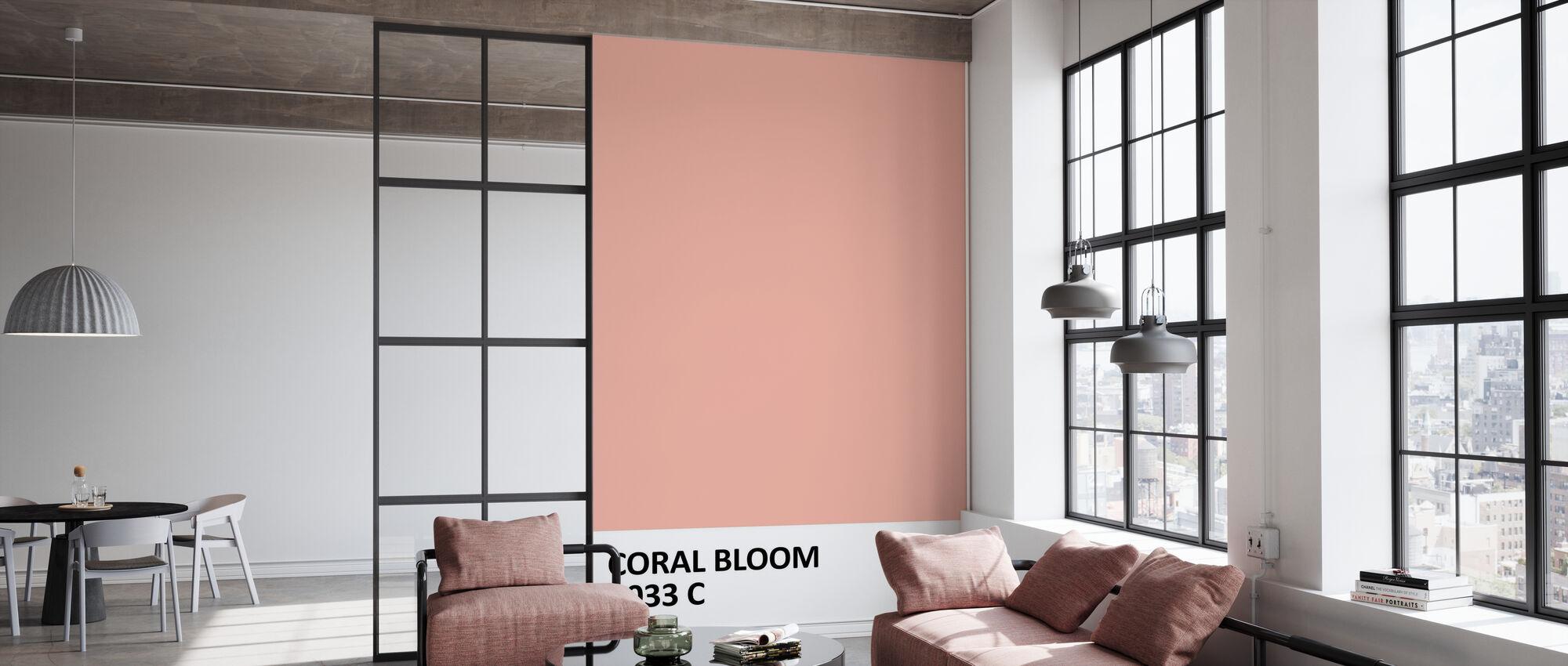 Verf Koraal Bloom - Behang - Kantoor