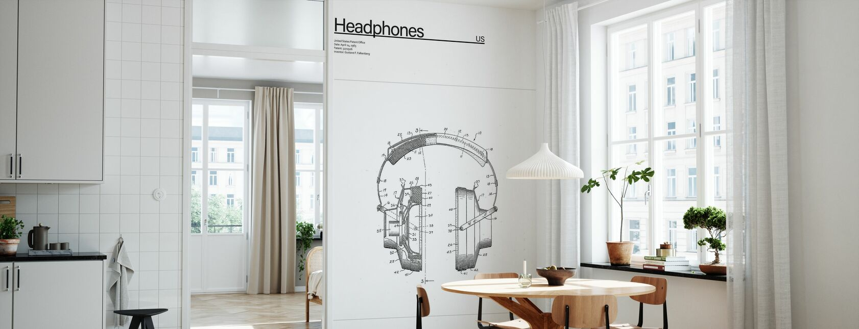 Patent Headpones - Wallpaper - Kitchen