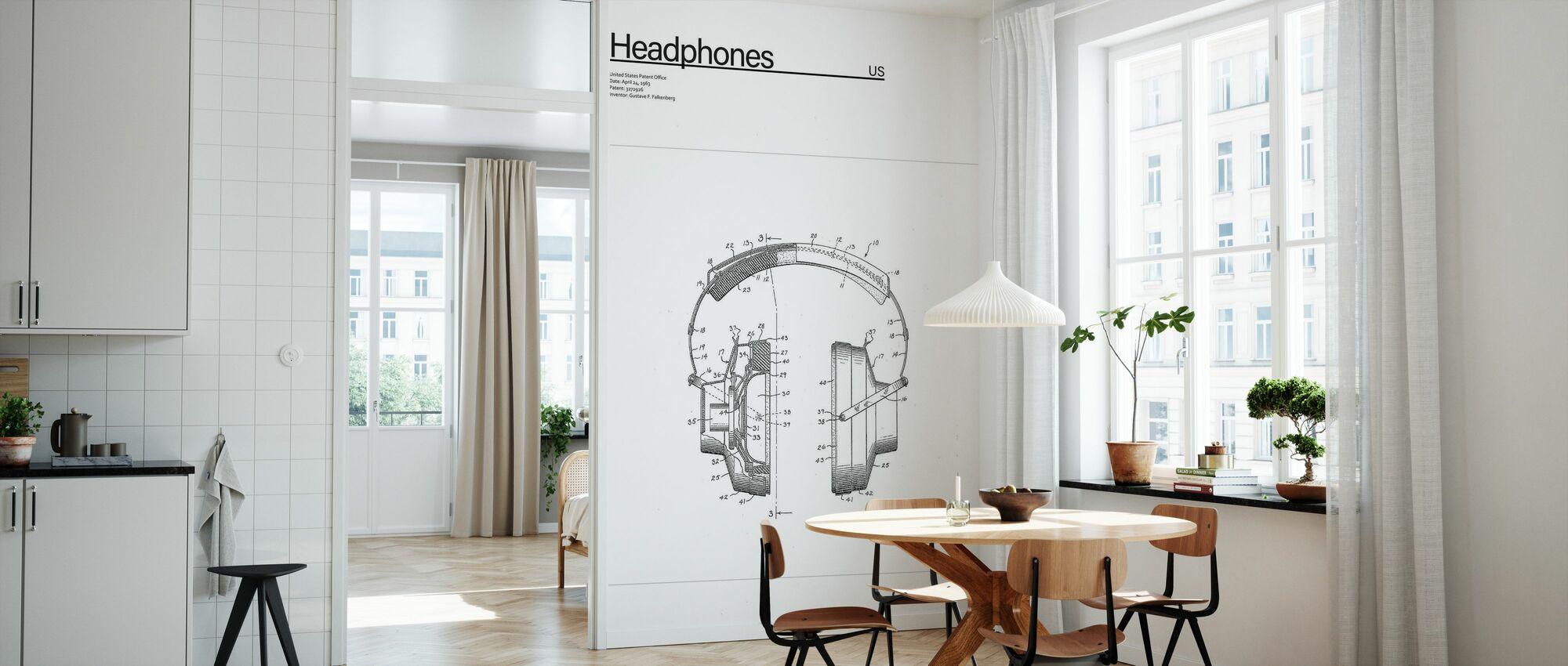 Patent Headpones - Wallpaper - Kitchen