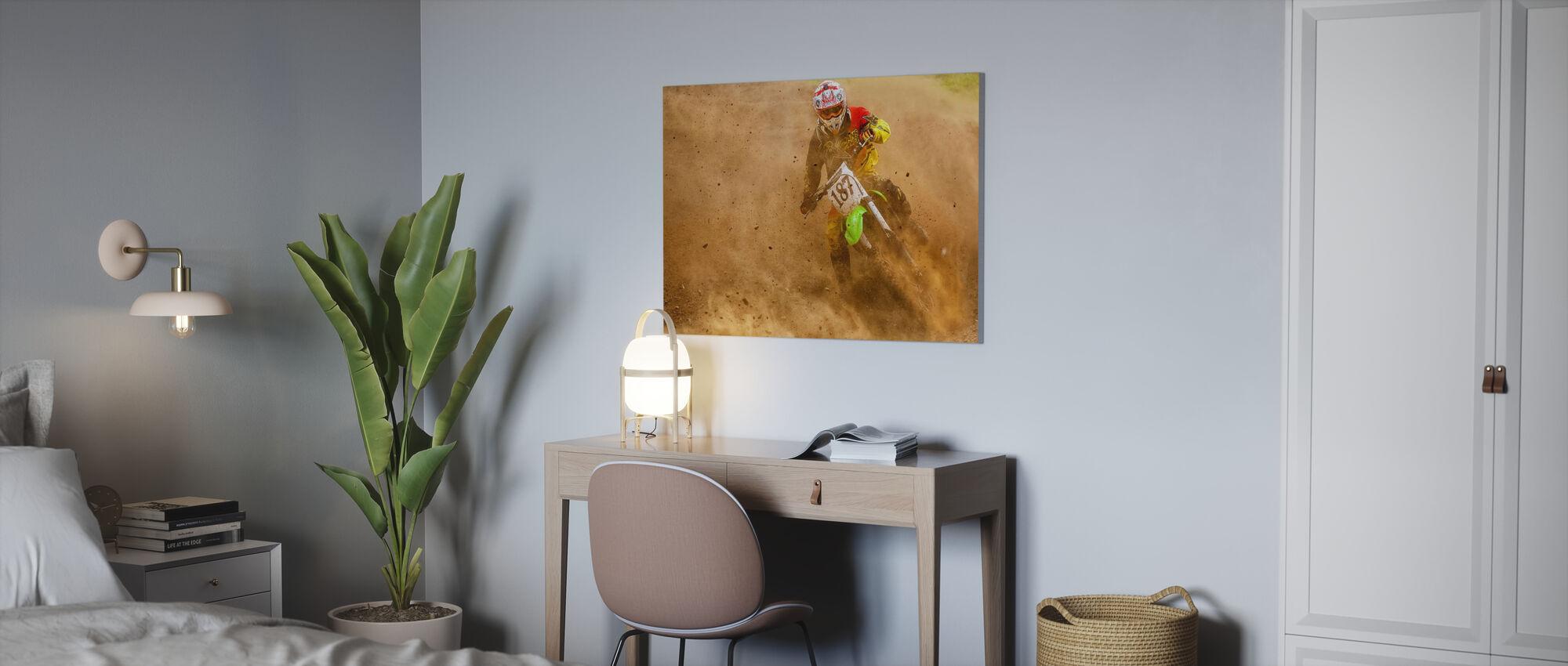 Biker - Canvas print - Office