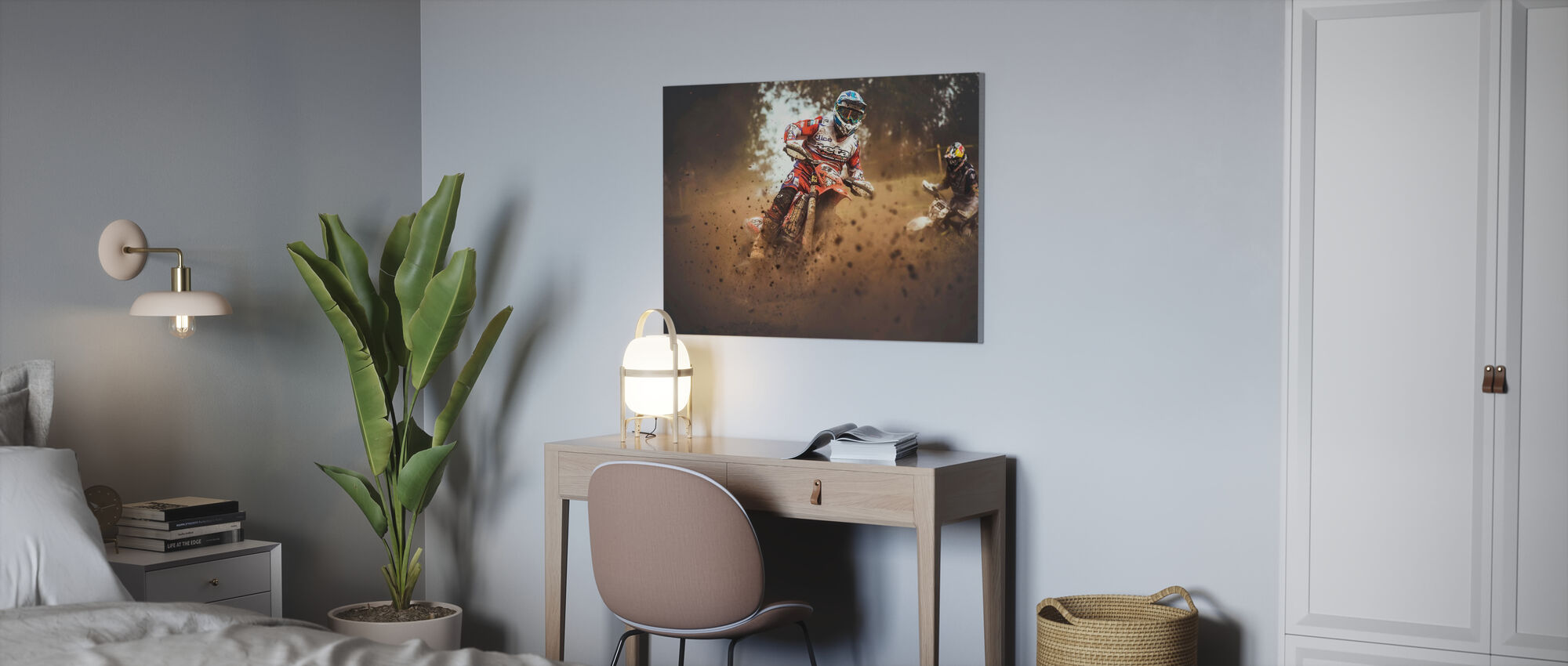 Number Eighty Seven - Canvas print - Office
