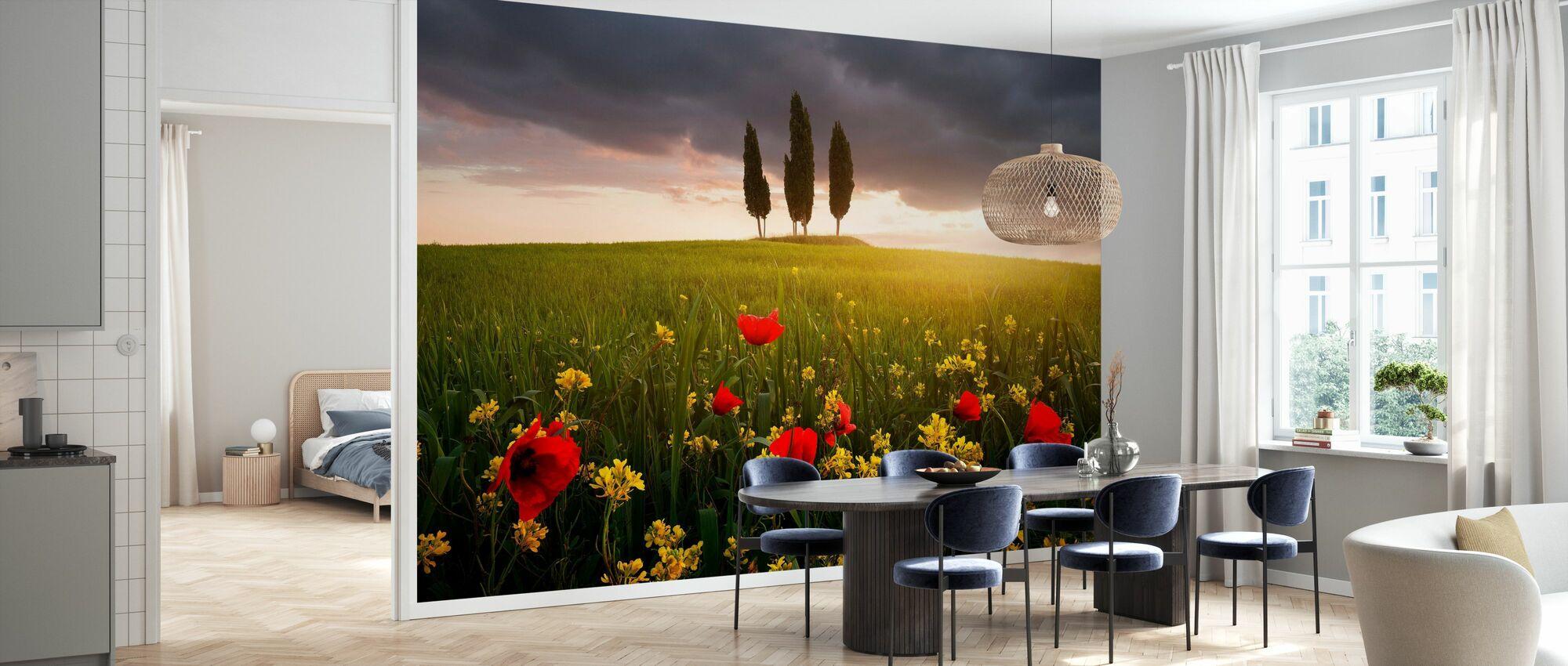 Blooming Tuscany - Wallpaper - Kitchen