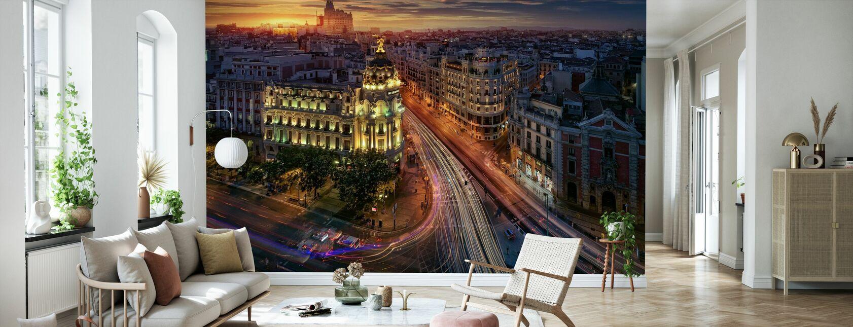 Metrópolis de Madrid - Papel pintado - Salón