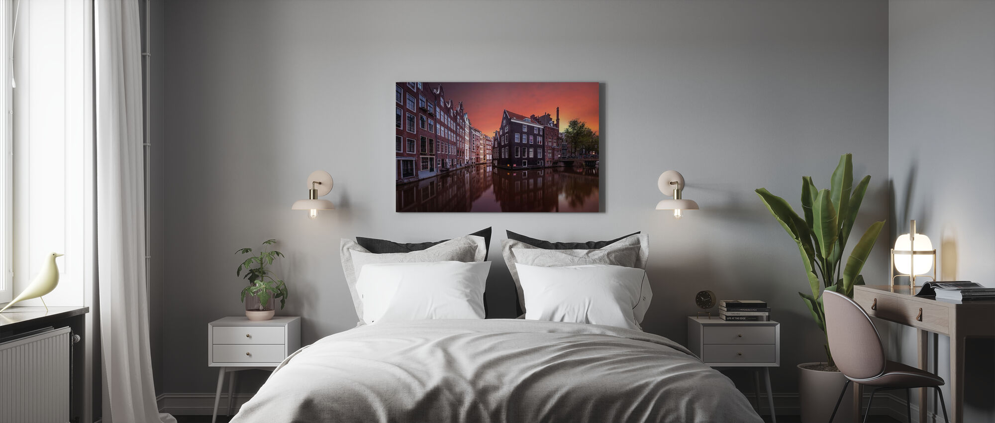 Amsterdam Morgendämmerung - Leinwandbild - Schlafzimmer
