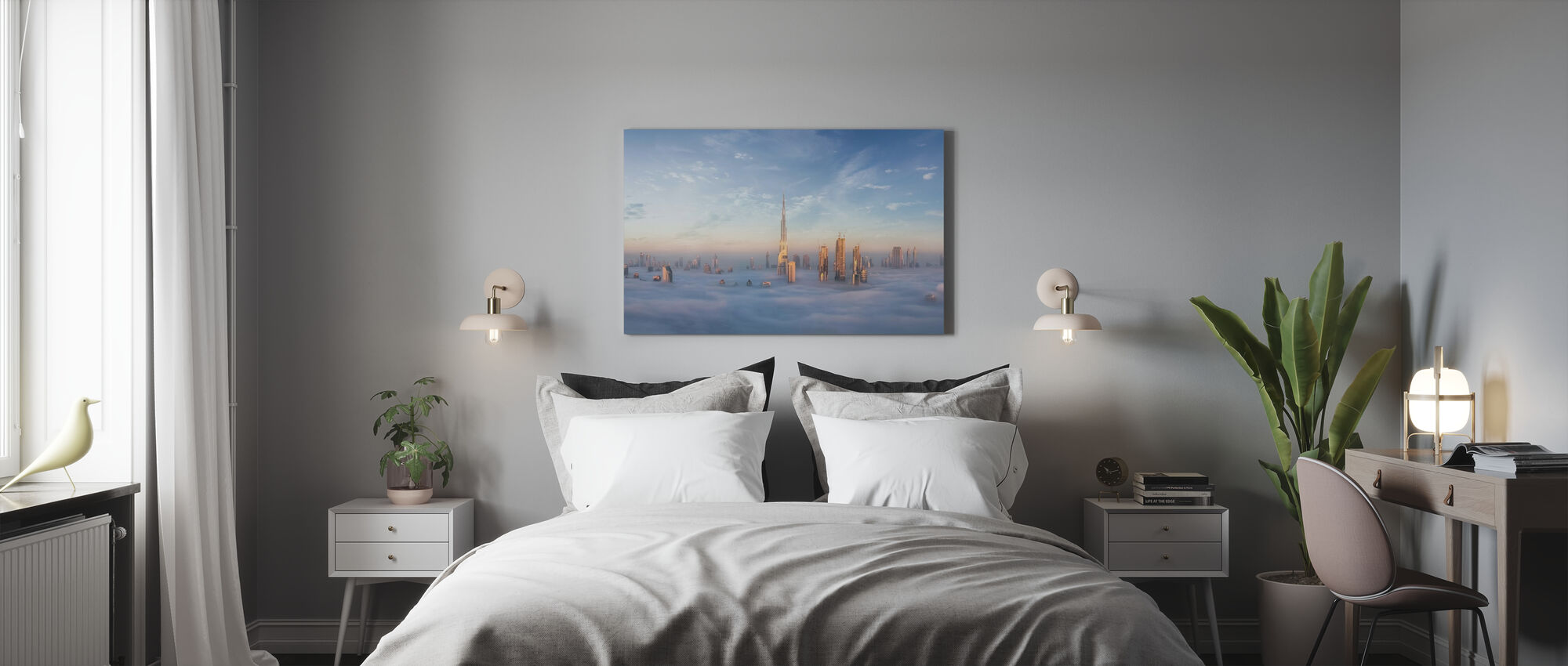 Sumussa uppoaminen - Canvastaulu - Makuuhuone
