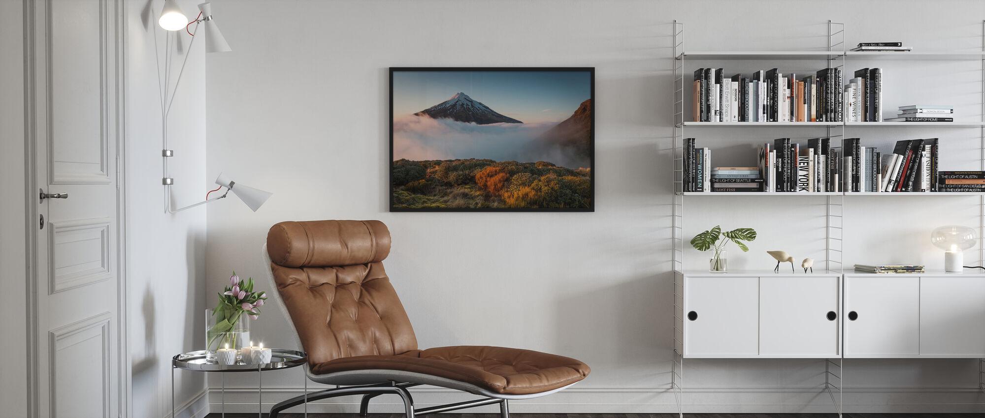 Mt Taranaki - Ingelijste print - Woonkamer