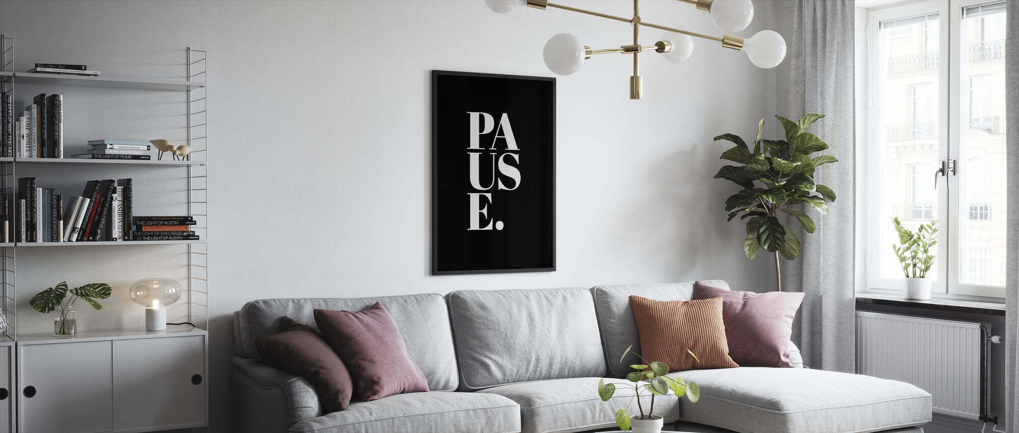 Pause II - Framed print - Living Room