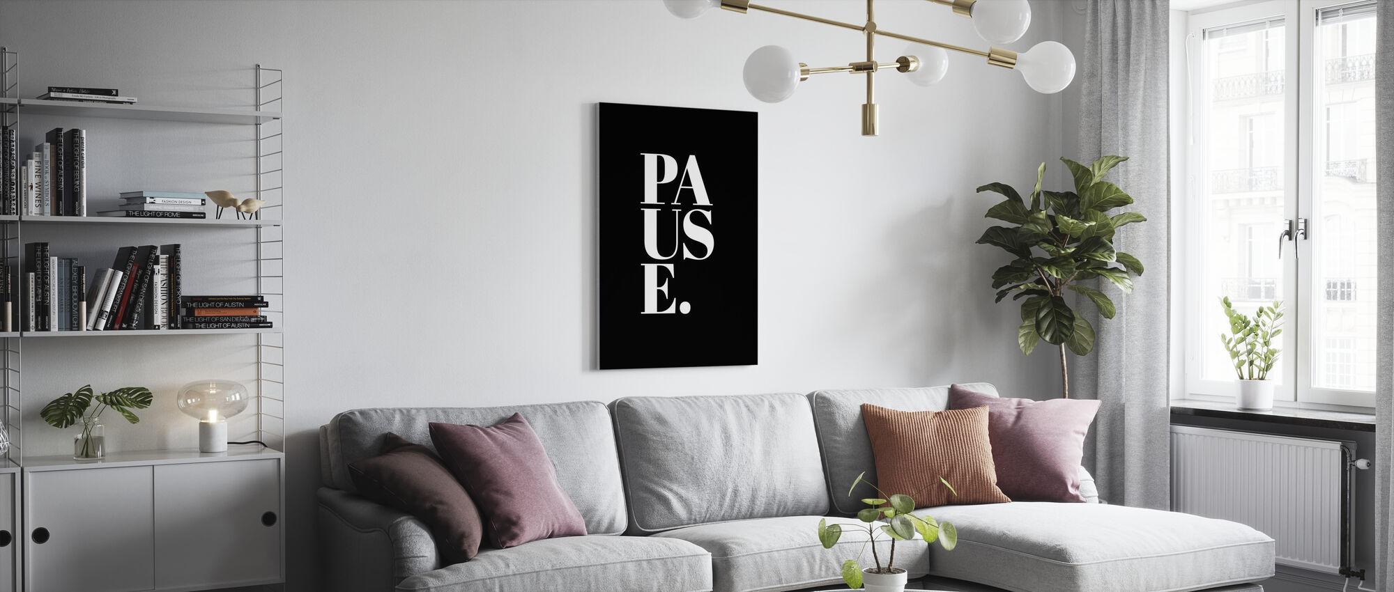 Pauze II - Canvas print - Woonkamer