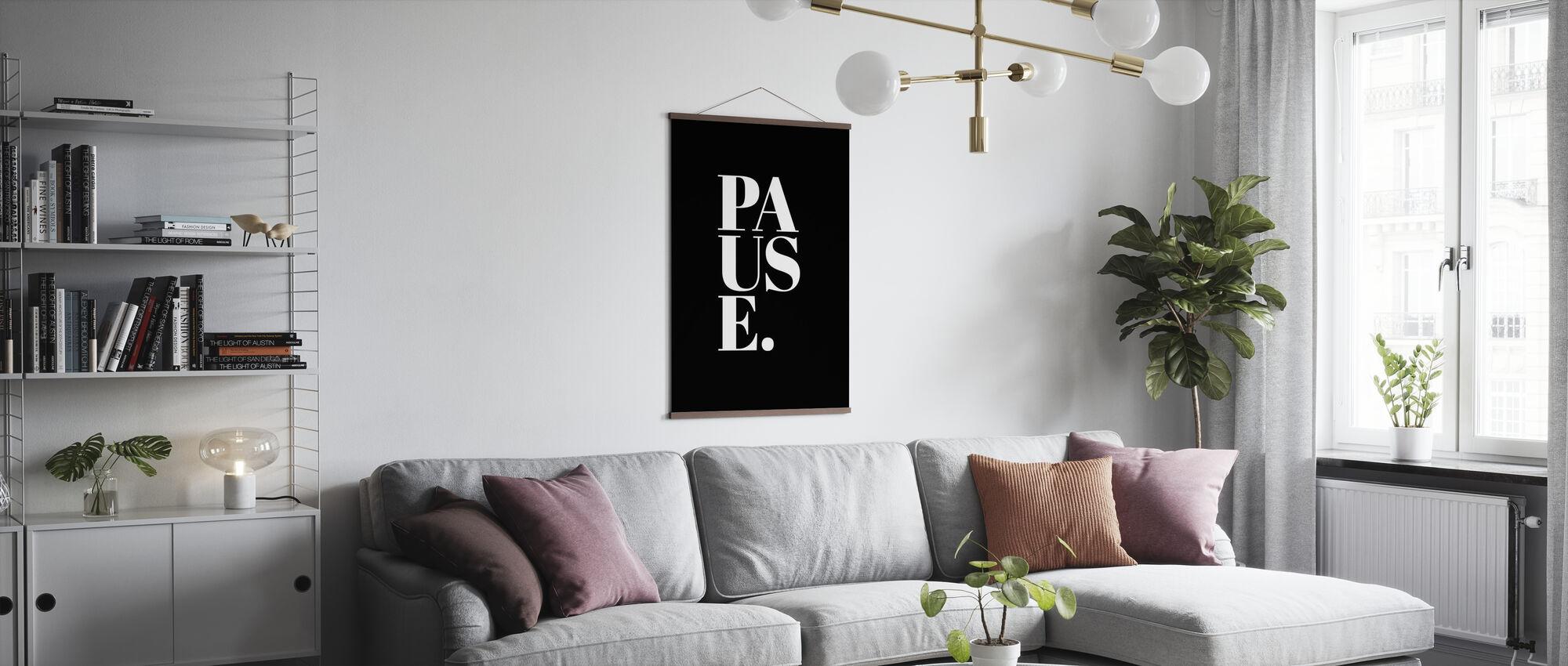 Pauze II - Poster - Woonkamer