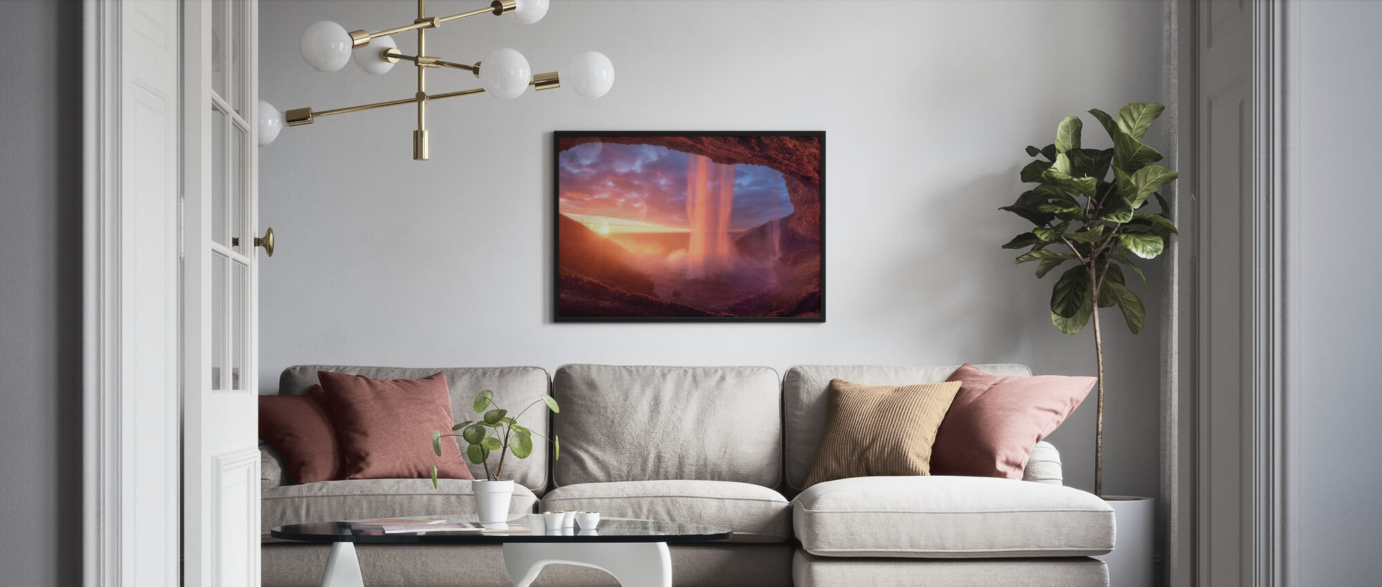 Wall of Flames - Framed print - Living Room