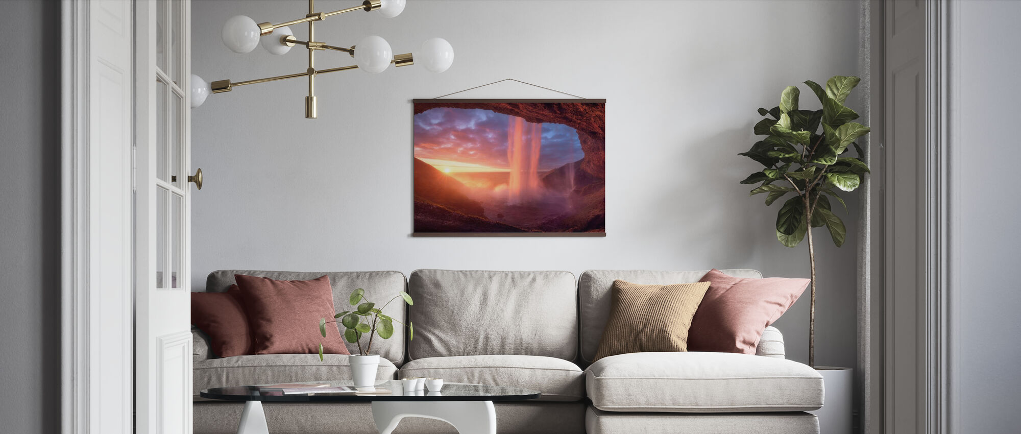 Wall of Flames - Poster - Living Room