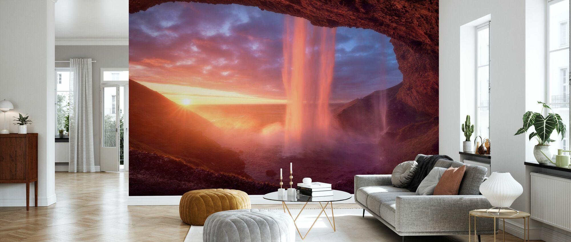 Wall of Flames - Wallpaper - Living Room