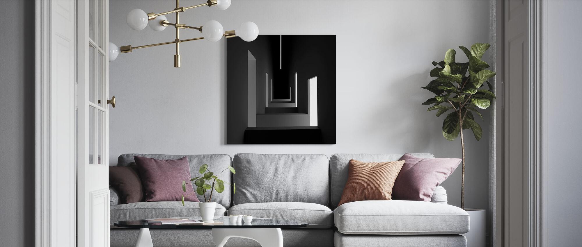 Unsymmetric - Canvas print - Living Room