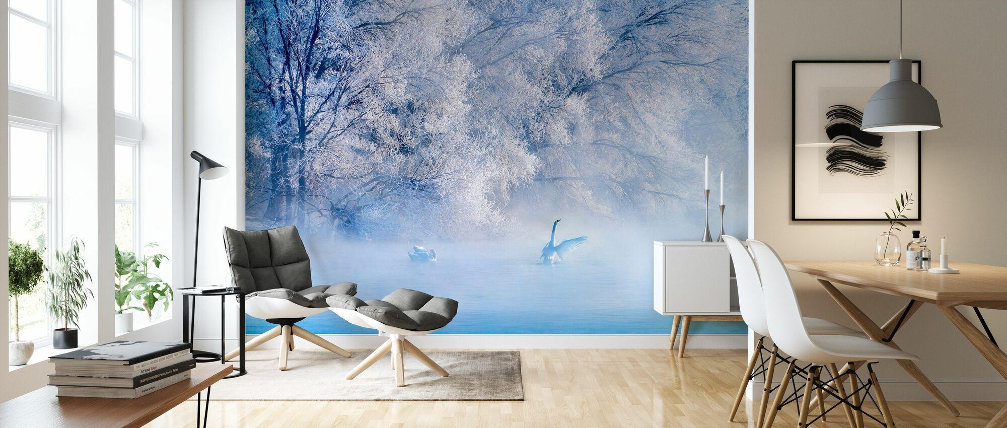 Swan Lake - Wallpaper - Living Room