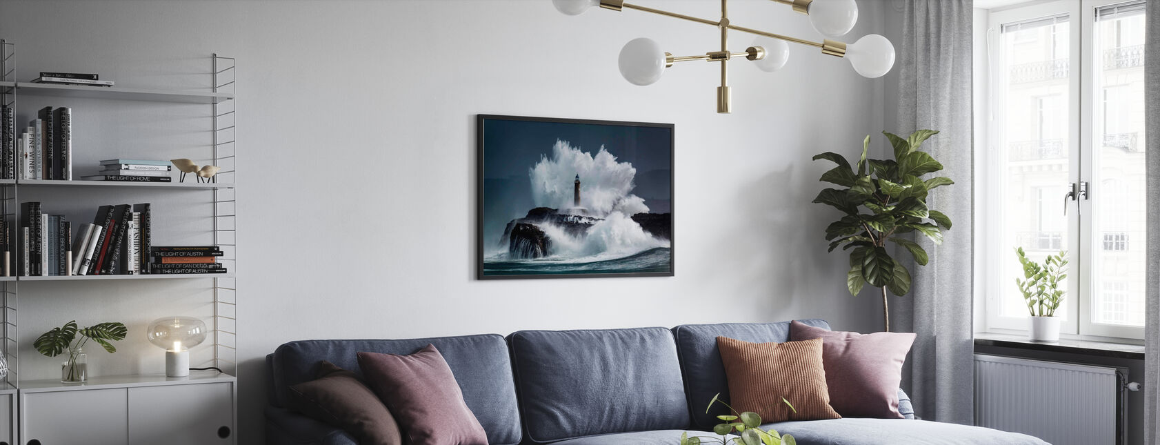 Comb - Framed print - Living Room