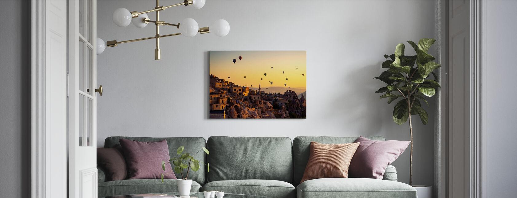 Sunrise Over Cappadocia - Canvas print - Living Room