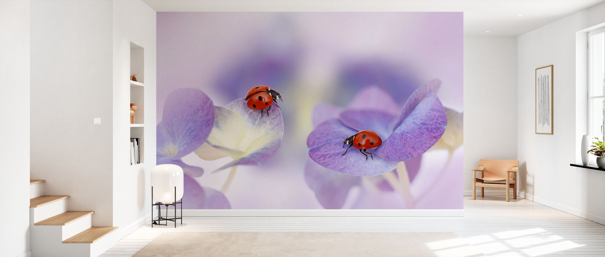 Red and Purple - Wallpaper - Hallway