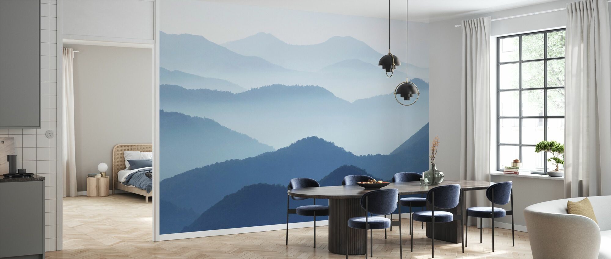 Blue Waves - Wallpaper - Kitchen