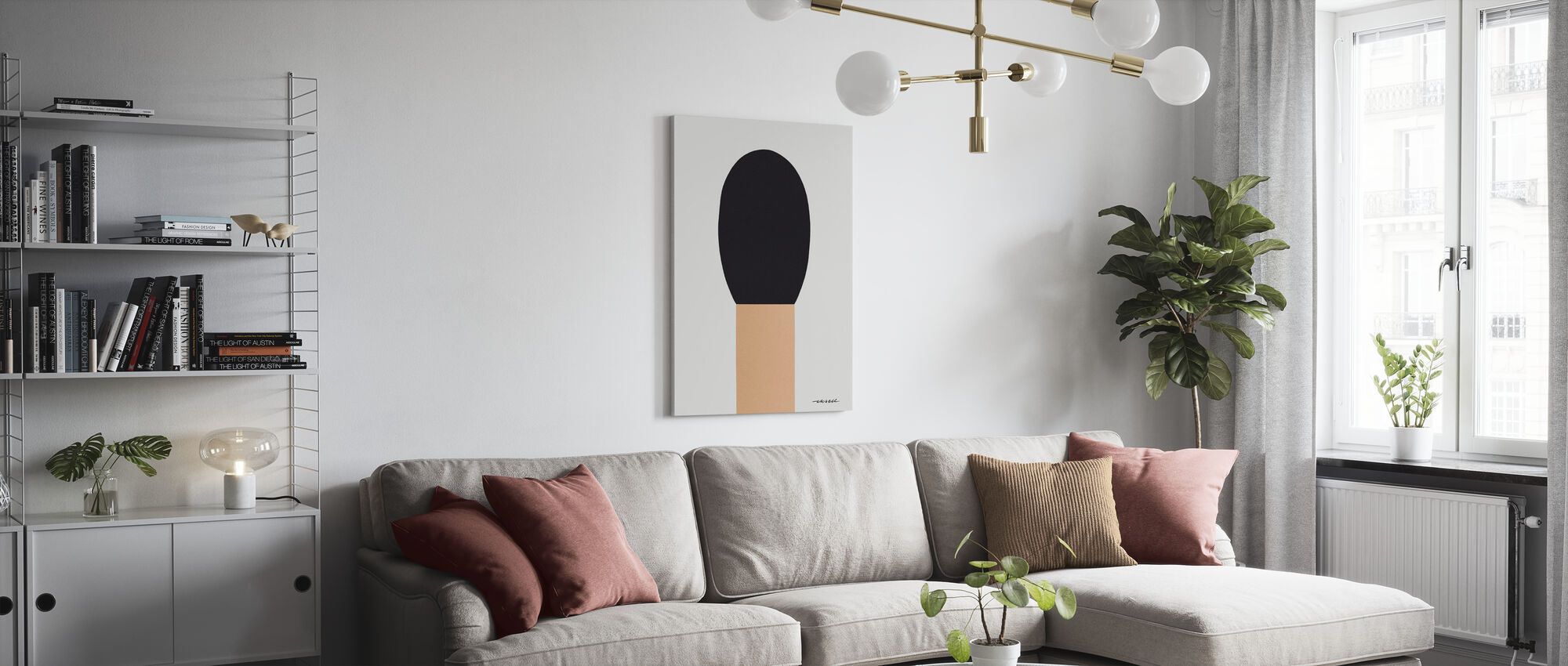 Match - Canvas print - Living Room