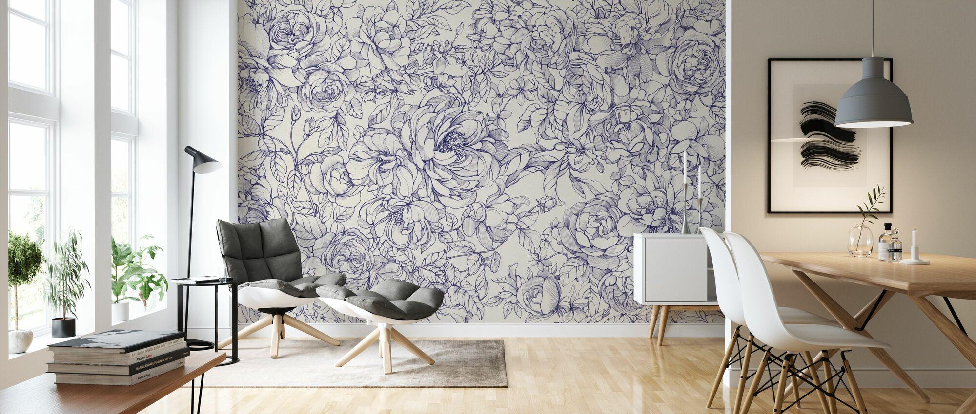Floralium - Lavender - Wallpaper - Living Room
