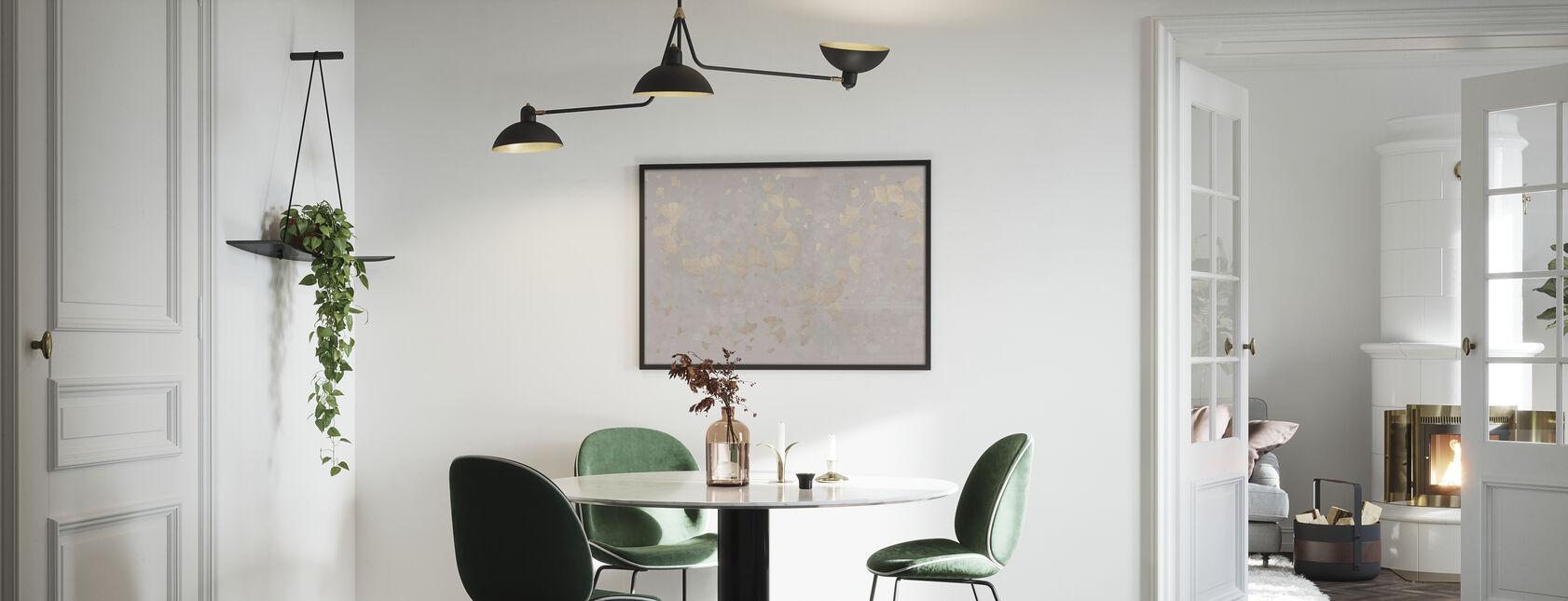 Ginkgo Blätter Blowin im Wind - Beige - Poster - Küchen