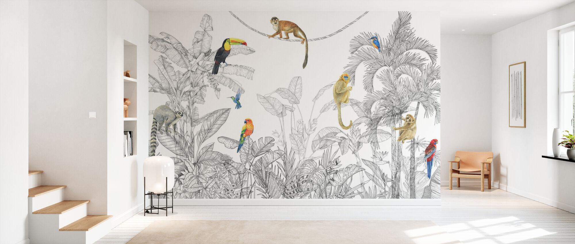 In Harmony - Line Art - Wallpaper - Hallway