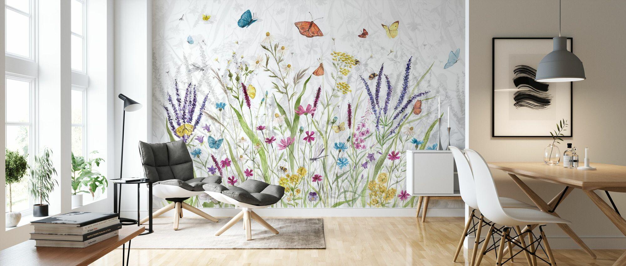In den Garten - Tapete - Wohnzimmer