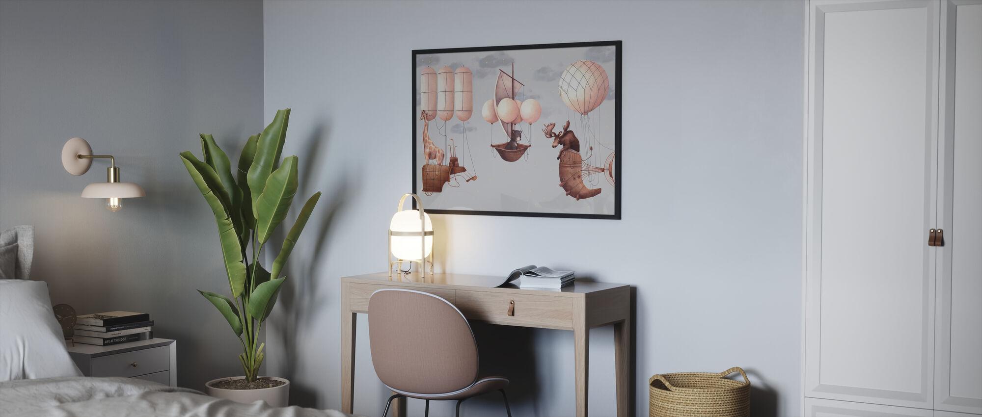 Lets Fliegen - Poster - Schlafzimmer