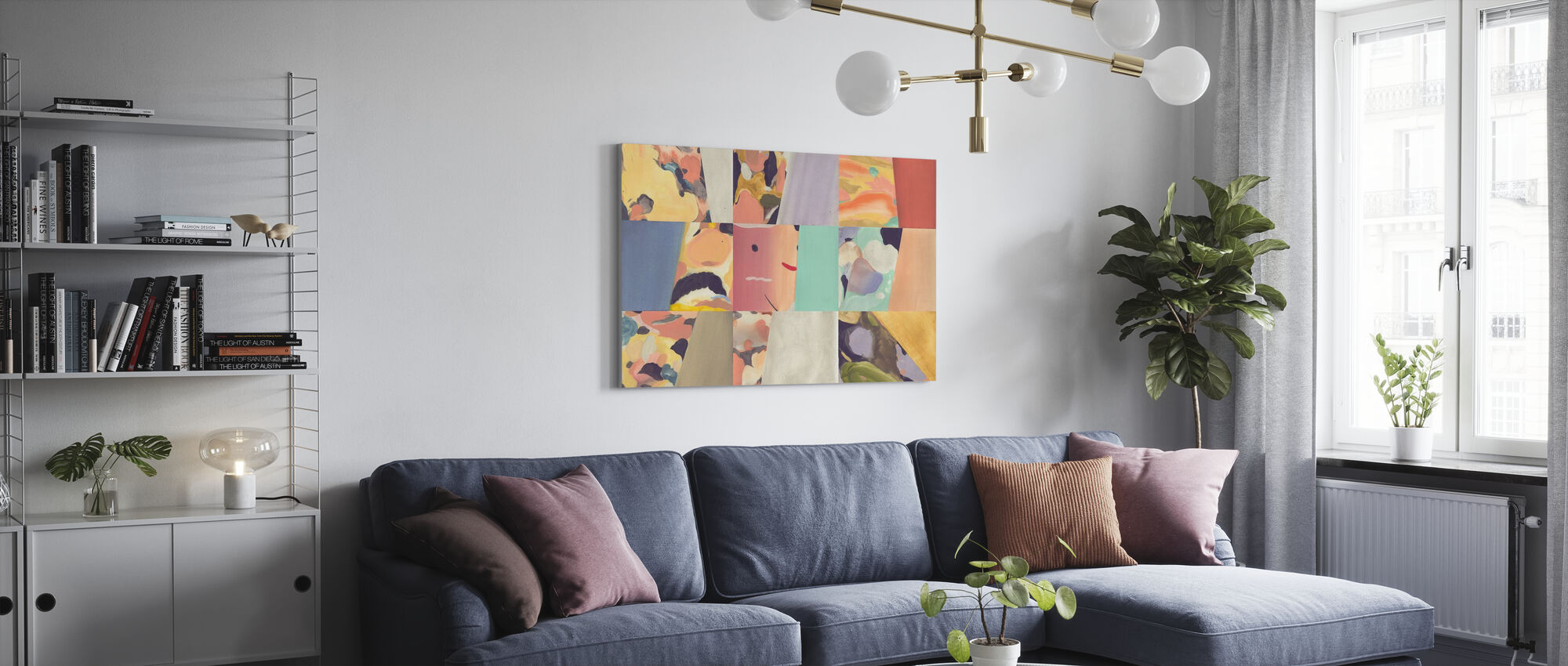Abstract Fun - Small - Canvas print - Living Room