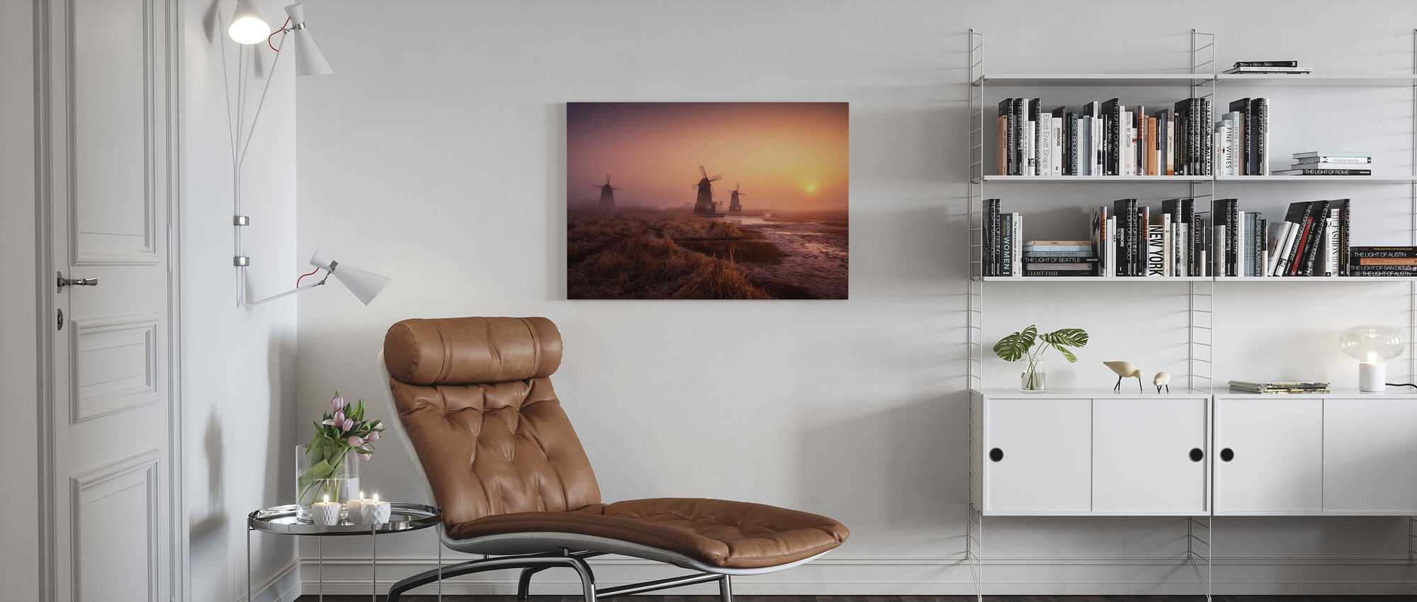 Mistige ochtend - Canvas print - Woonkamer