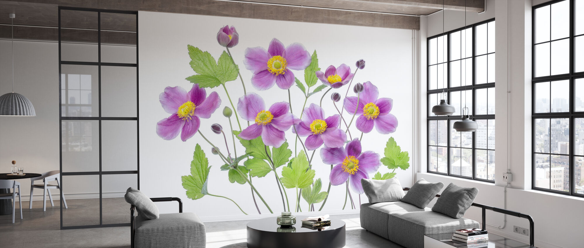 Anemone Hadspen Abundance - Wallpaper - Office