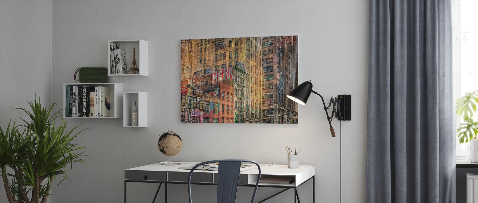Huis Voorkant - Canvas print - Kantoor