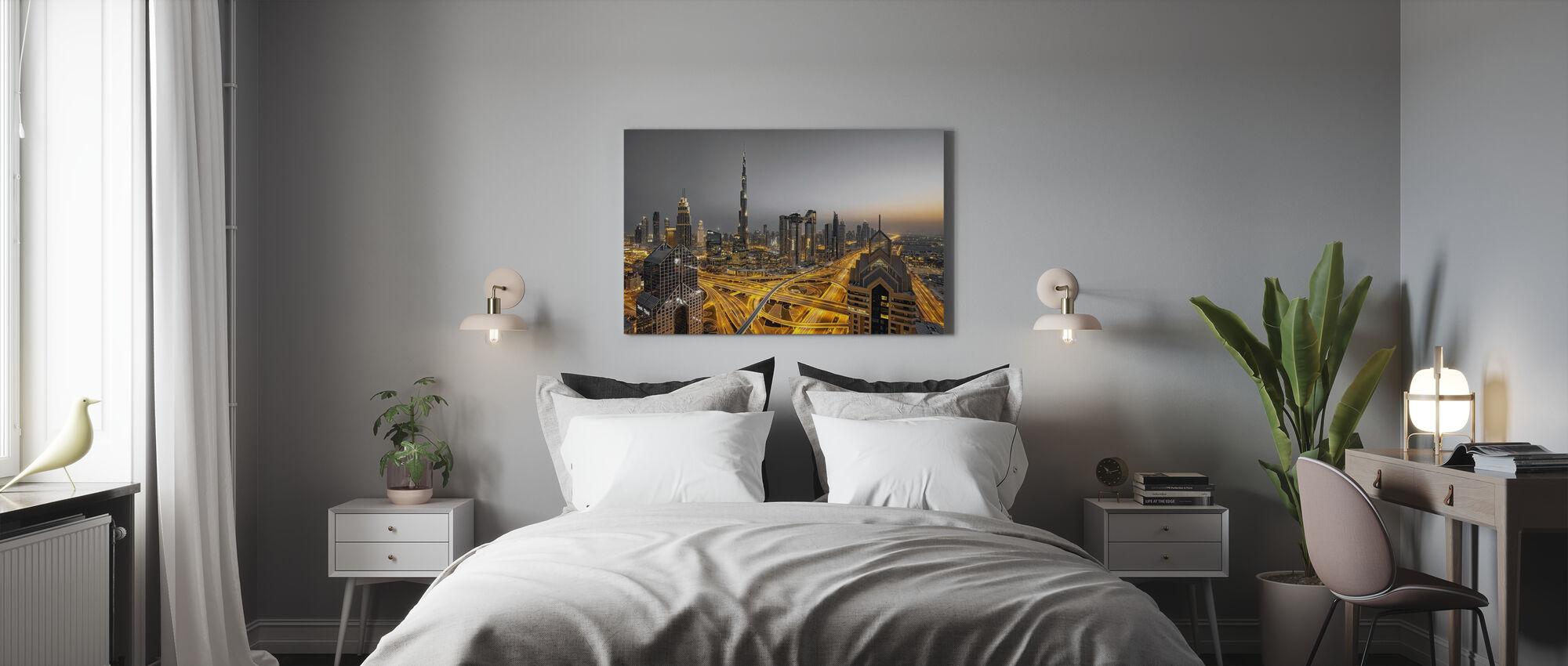 Kultainen valo - Canvastaulu - Makuuhuone